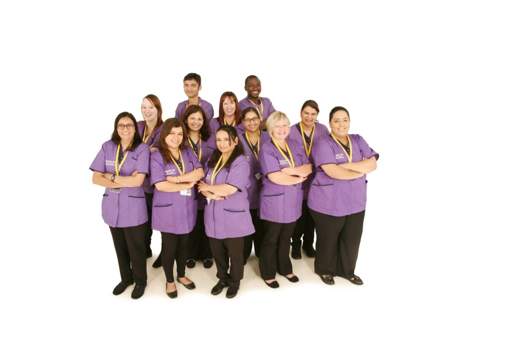 Aspire UK home care support team